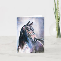 Watercolor Horse Note Card
