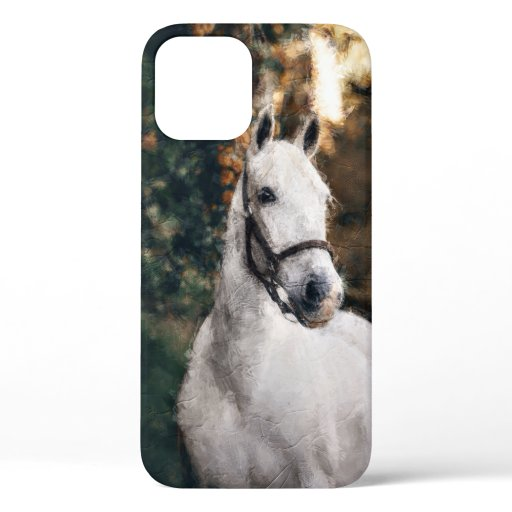 watercolor horse painting iPhone 12 case
