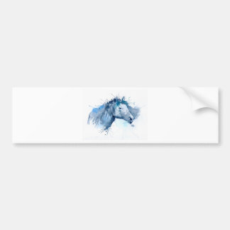 Watercolor Horse Portrait Bumper Sticker