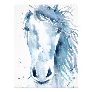 Watercolor horse portrait letterhead