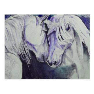 Watercolor Horse Postcard- Purple