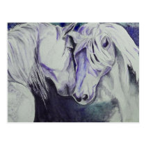 Watercolor Horse Postcard- Purple Postcard