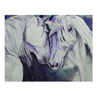 Watercolor Horse Postcard- Purple Postcard