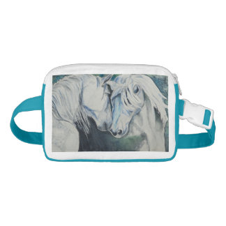 Watercolor Horses Fanny Pack Blue/Green