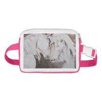 Watercolor Horses Fanny Pack Pink/Peach