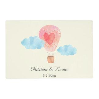 Watercolor Hot Air Balloon Wedding Placemat