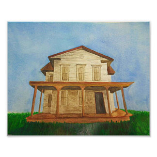 Watercolor House Poster