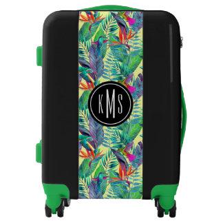 Watercolor Humminbirds In The Jungle | Monogram Luggage