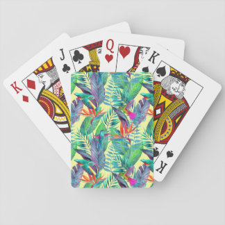 Watercolor Humminbirds In The Jungle Playing Cards