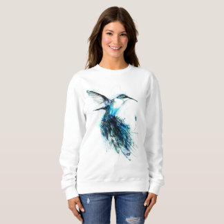 Watercolor Hummingbird, Feather Bird, Sweatshirt