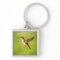 Watercolor Hummingbird Keychain