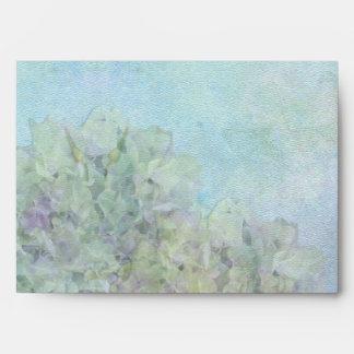 Watercolor Hydrangea - A7 Envelope Envelope