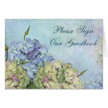 Watercolor Hydrangea Floral - Sign Guestbook Cards