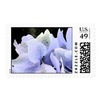 Watercolor Hydrangea Postage - matching card!
