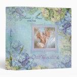 Watercolor Hydrangea Wedding Album - Customize 3 Ring Binders