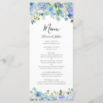 Watercolor Hydrangeas Floral Wreath Menu II