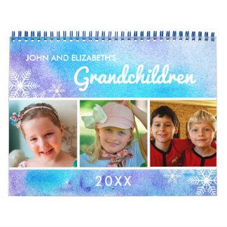 Watercolor I 2018 Family Photo Grandchildren Calendar