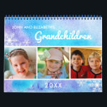 "Watercolor I 2019 Family Photo Grandchildren Calendar<br><div class=""desc"">Give a heartfelt keepsake photo calendar to grandparents this Christmas holiday. This calendar features watercolor backgrounds with photo frames for your favorite photos of children or grandchildren. Eight of the months offer one horizontal photo frame and four of the months offer two vertical photo frames each. The front cover has...</div>"