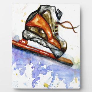 Watercolor Ice Skate Plaque
