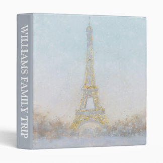 Watercolor | Image of Eiffel Towe Binder
