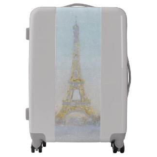 Watercolor | Image of Eiffel Towe Luggage