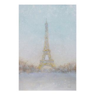 Watercolor | Image of Eiffel Towe Poster