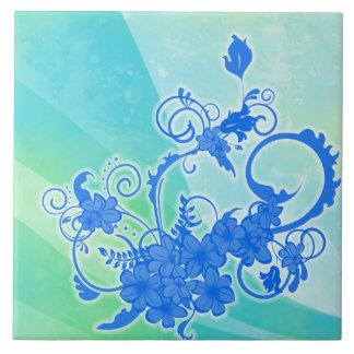 Watercolor Ink Floral Tile