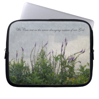Watercolor Inspirational Laptop Sleeve 10 inch