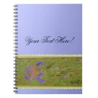 Watercolor Iris Gold & Lace Lavender Note Books