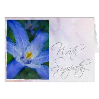 Watercolor Iris-Sympathy Card
