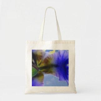 Watercolor Iris Tote Canvas Bags