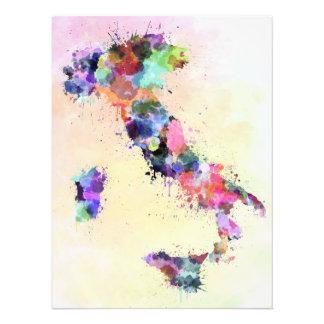 Watercolor Italy map style splash Photo Print