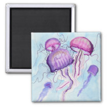 Watercolor Jellyfish Magnet