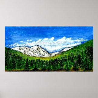 Watercolor jGibney Breckenridge CO 1999art 78x40 Poster