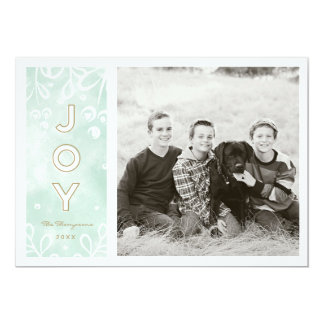 Watercolor Joy Card
