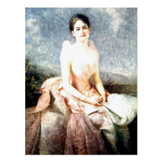 Watercolor Juliette Gordon Low portrait Postcard