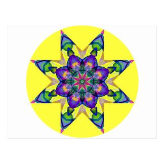 Watercolor Kaleidoscopic Mandala Design 4 Postcard