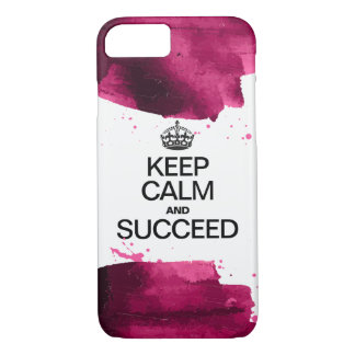Watercolor / Keep Calm and Succeed iPhone 8/7 Case