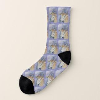 Watercolor Kid Goat Socks