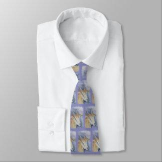 Watercolor Kid Goat Tie