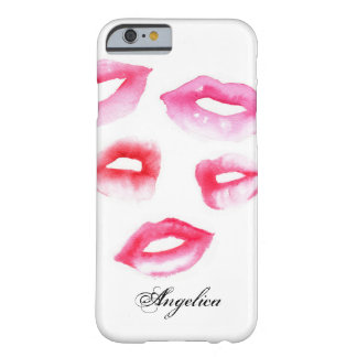 Watercolor Kisses Barely There iPhone 6 Case