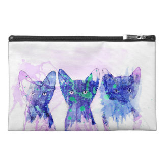 Watercolor Kittens Travel Accessory Bag