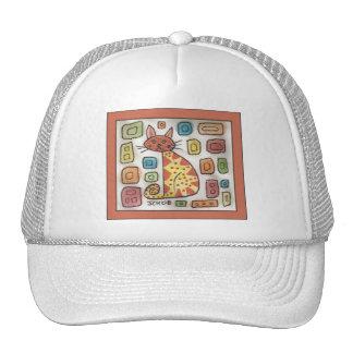 Watercolor Kitty Trucker Hat