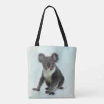 Watercolor Koala Bear Digital Art Tote Bag