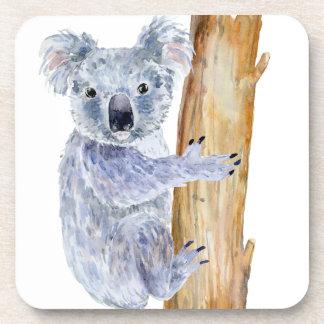 Watercolor koala illustration coaster
