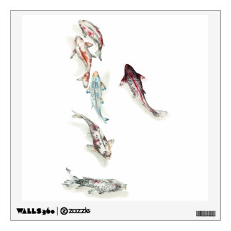 Koi fish wall decals wall stickers zazzle for Koi wall decal