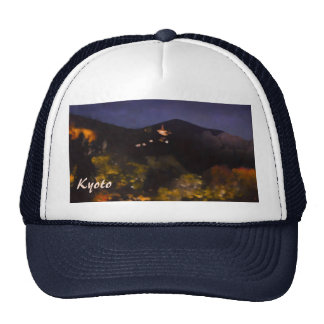 Watercolor Kyoto Autumn Temple Light Up Trucker Hat