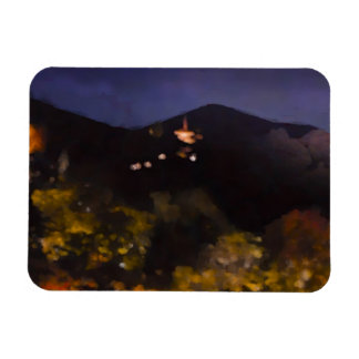 Watercolor Kyoto Autumn Temple Light Up Magnet