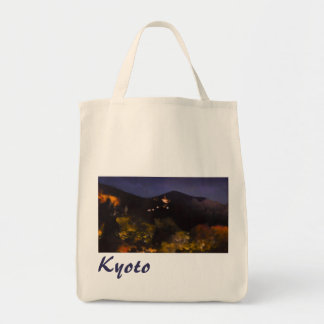 Watercolor Kyoto Autumn Temple Light Up Tote Bag