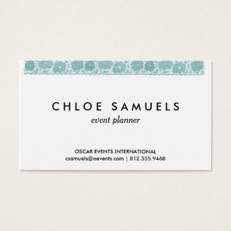 Watercolor Lace Ribbon Girly Rainbow Painted Business Card